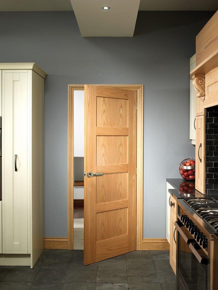 Xl Joinery Internal Oak Pre Finished Shaker 4 Panel Fire Door